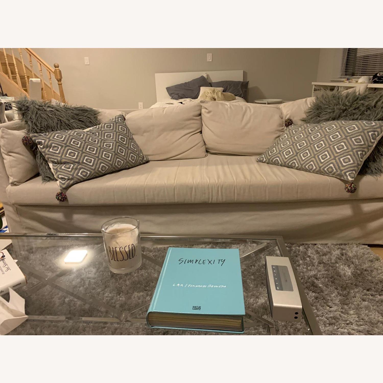 IKEA Beige SANDBACKEN Sofa - image-4