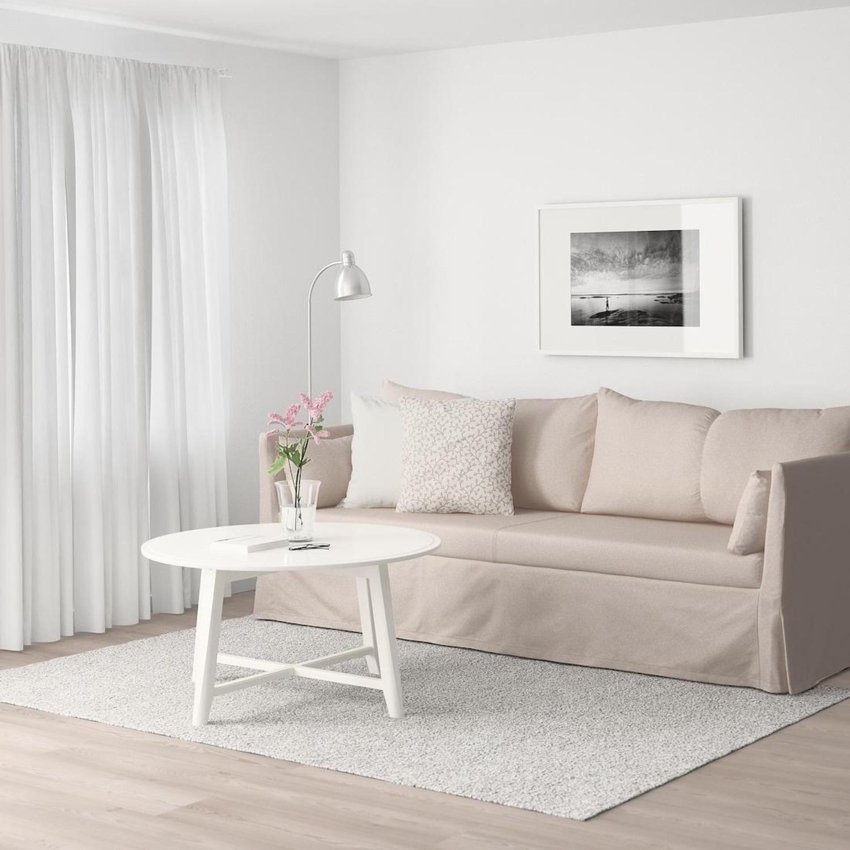 IKEA Beige SANDBACKEN Sofa - image-5