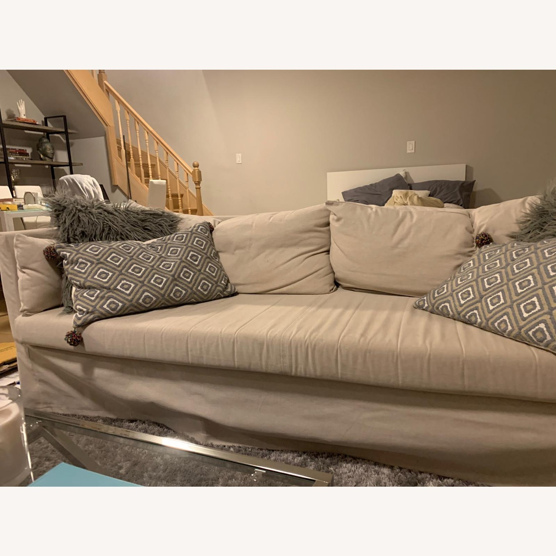 IKEA Beige SANDBACKEN Sofa - image-3