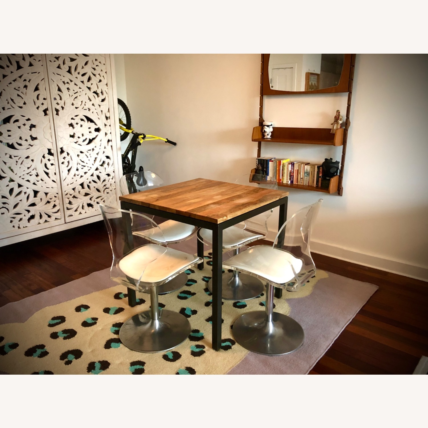 West Elm Box Frame Square Dining Table - image-1