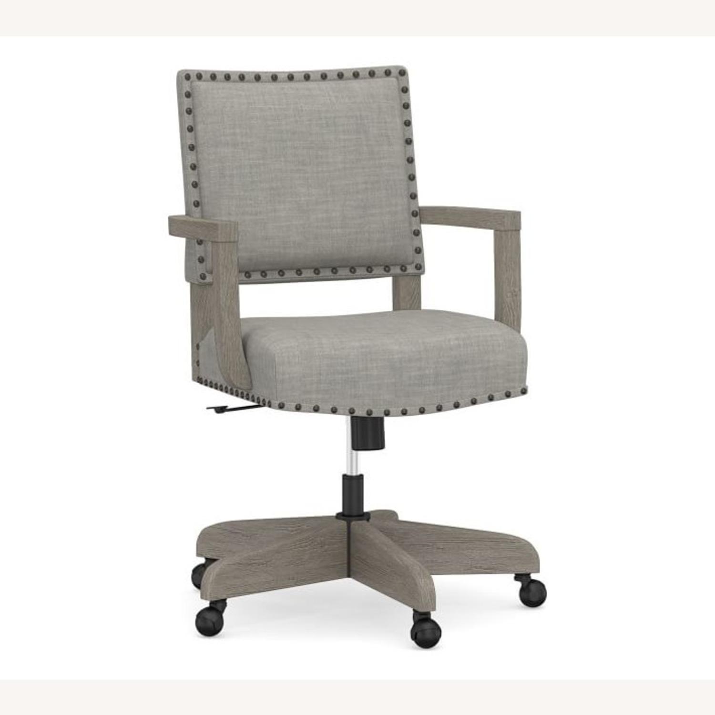 Pottery Barn Manchester Swivel Desk Chair - image-1