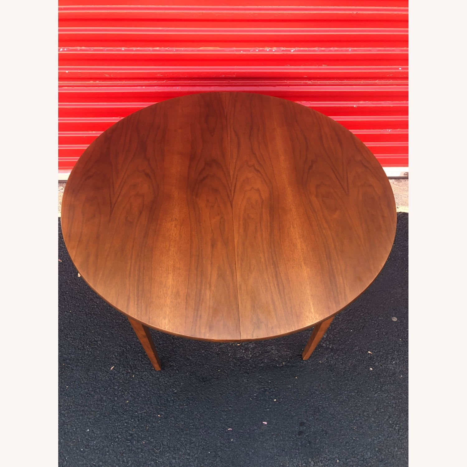 Mid Century Walnut Dining Table with 3 Leafs - image-7