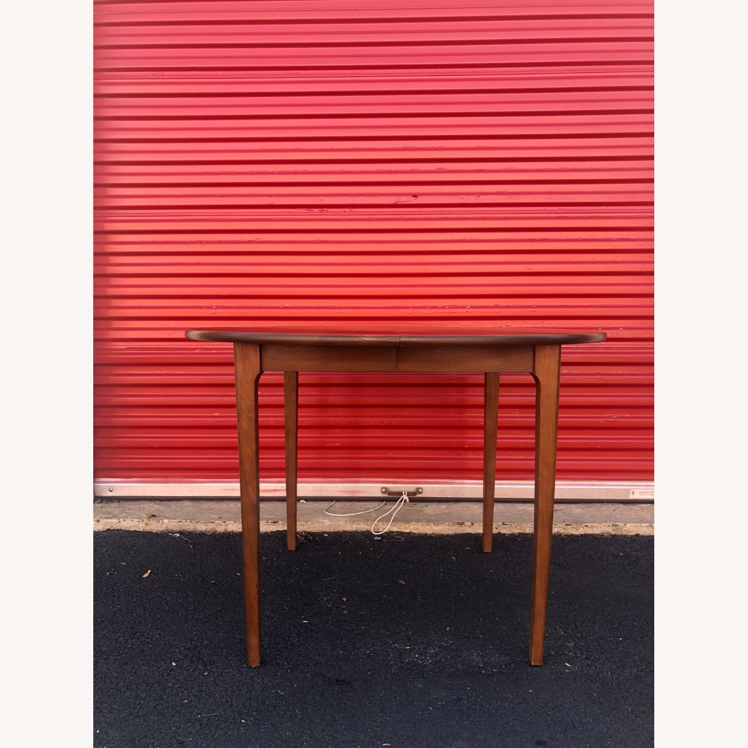 Mid Century Walnut Dining Table with 3 Leafs - image-4