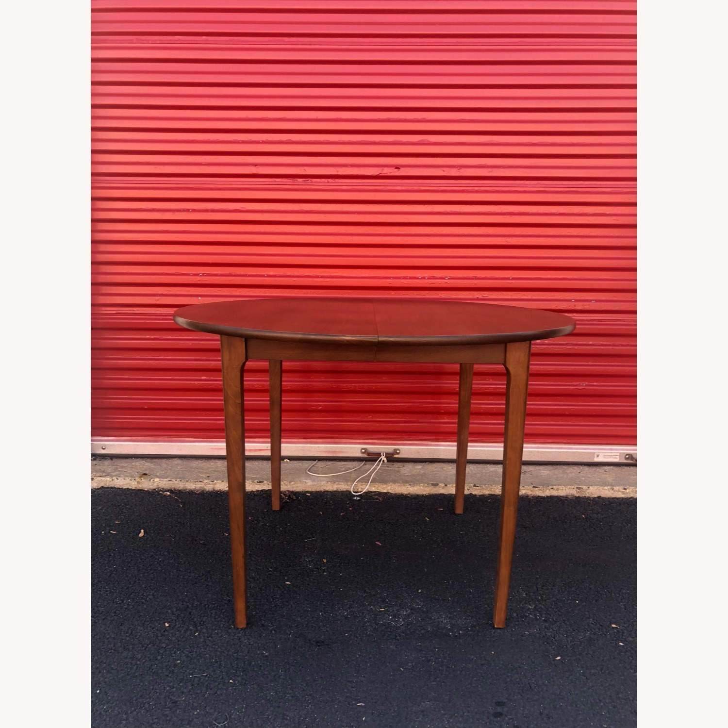 Mid Century Walnut Dining Table with 3 Leafs - image-3