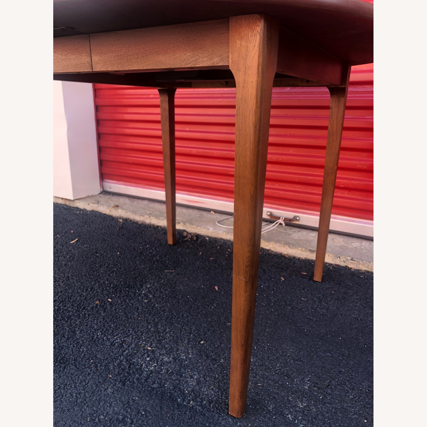Mid Century Walnut Dining Table with 3 Leafs - image-2