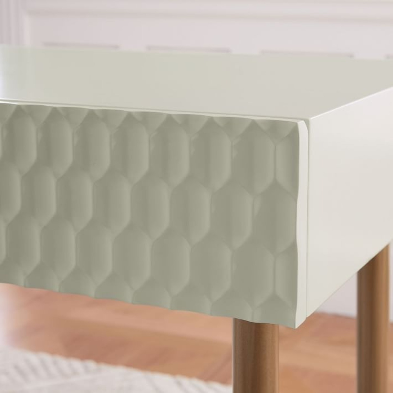 West Elm Audrey Mini Desk, Parchment - image-1