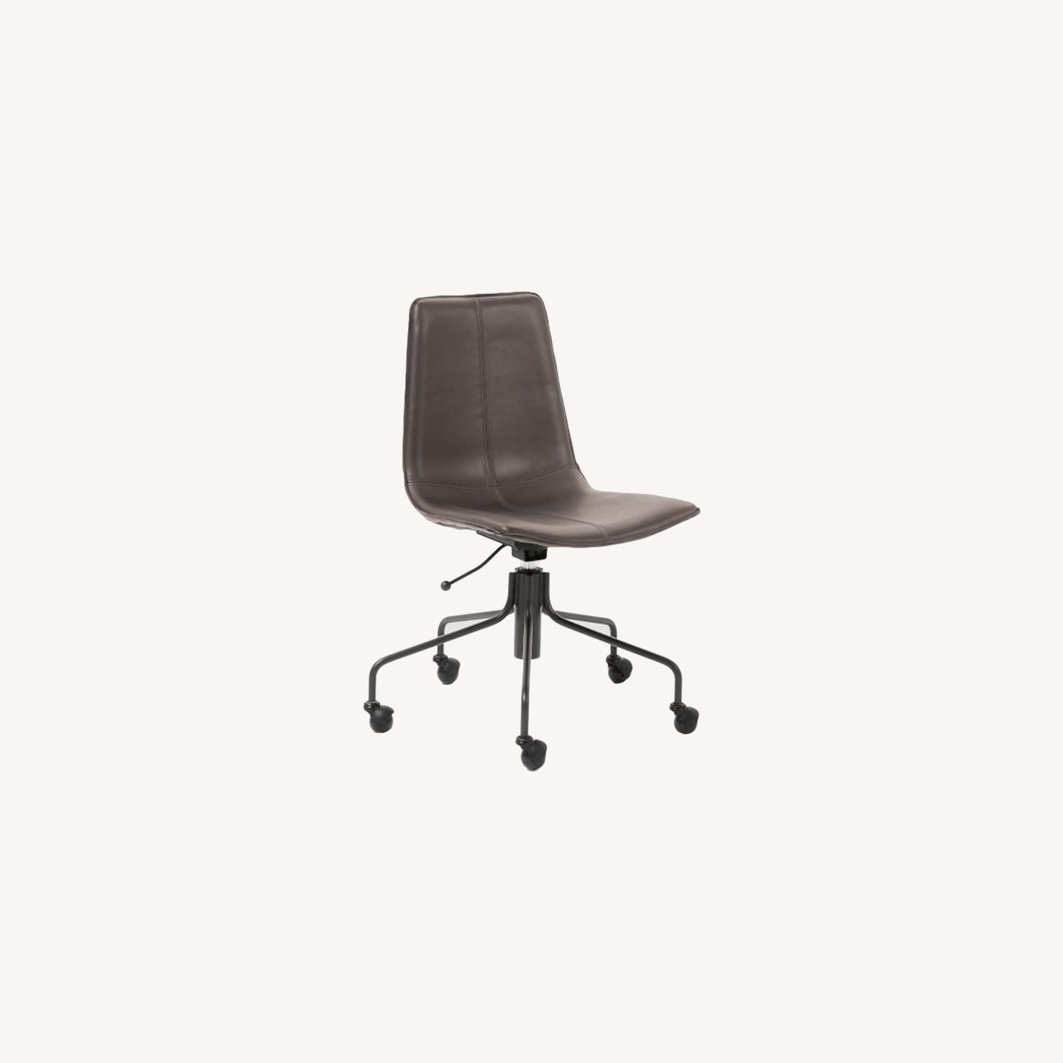 West Elm Slope Office Chair, Charcoal - image-0