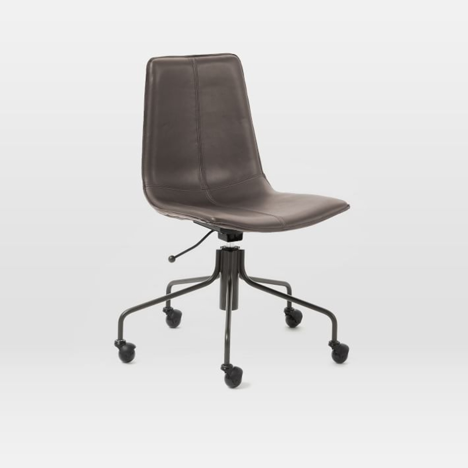 West Elm Slope Office Chair, Charcoal - image-1