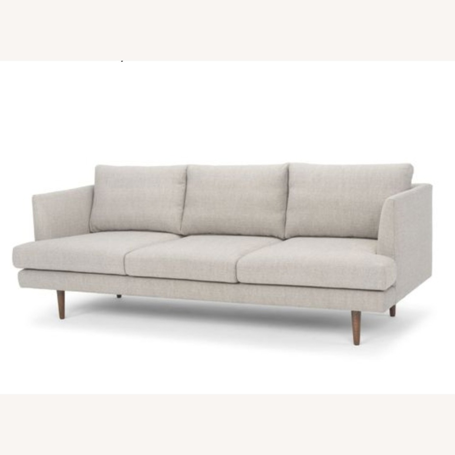 Comfortable Mid-Century Modern Light Grey Couch - image-1