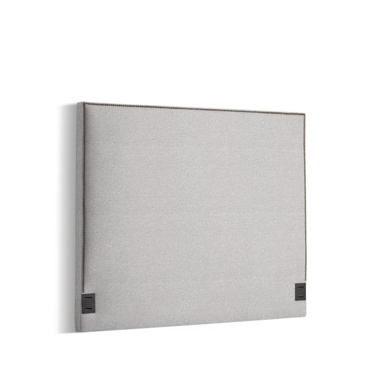 West Elm Nailhead Upholstered Headboard - image-2