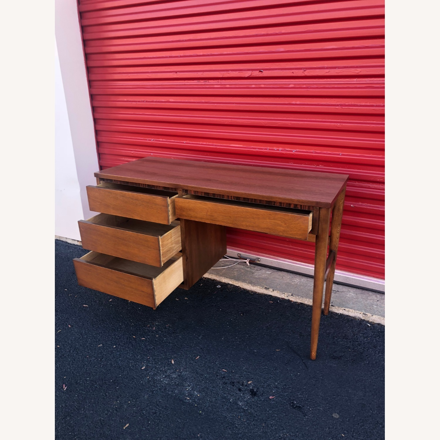 Mid Century Four Drawer Writing Desk - image-7