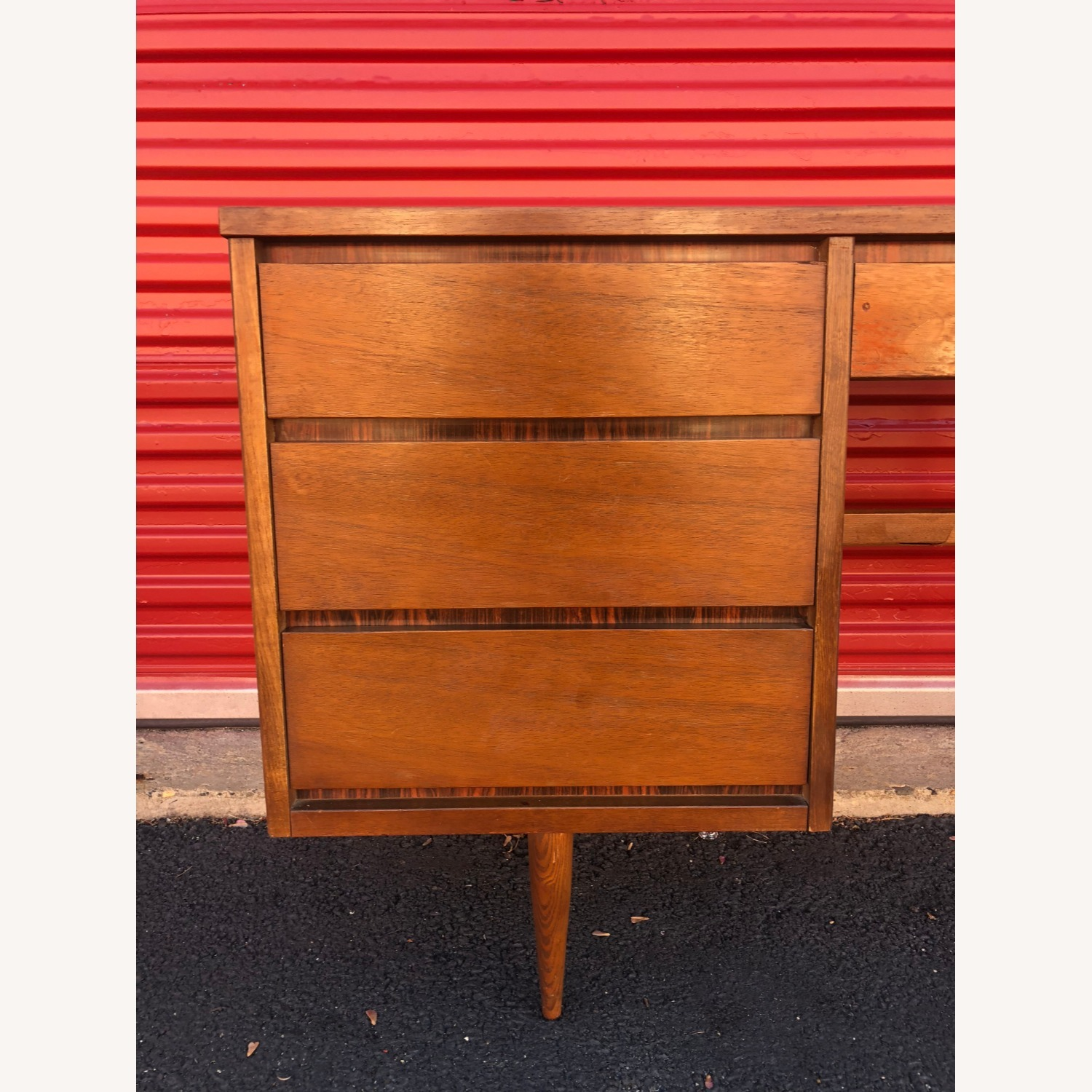 Mid Century Four Drawer Writing Desk - image-5