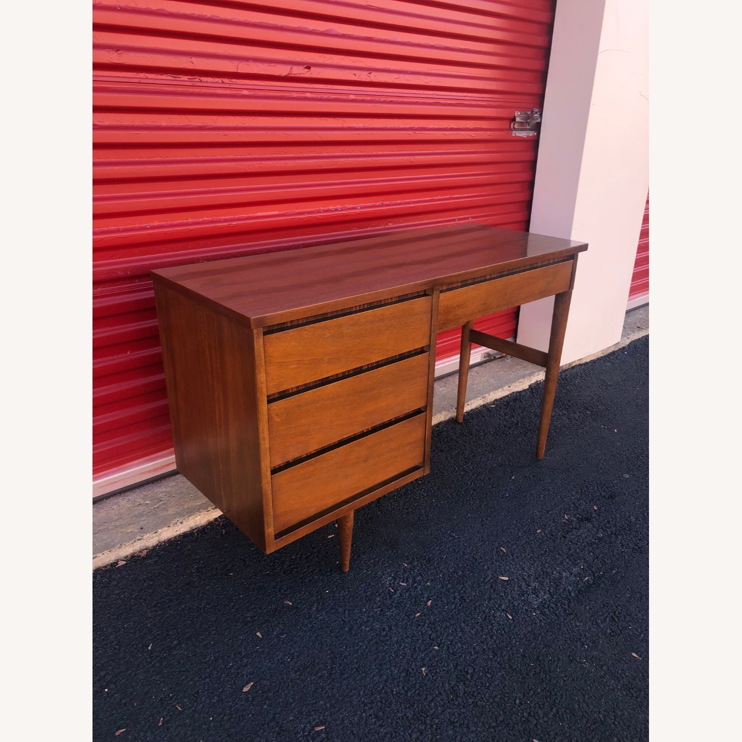 Mid Century Four Drawer Writing Desk - image-11