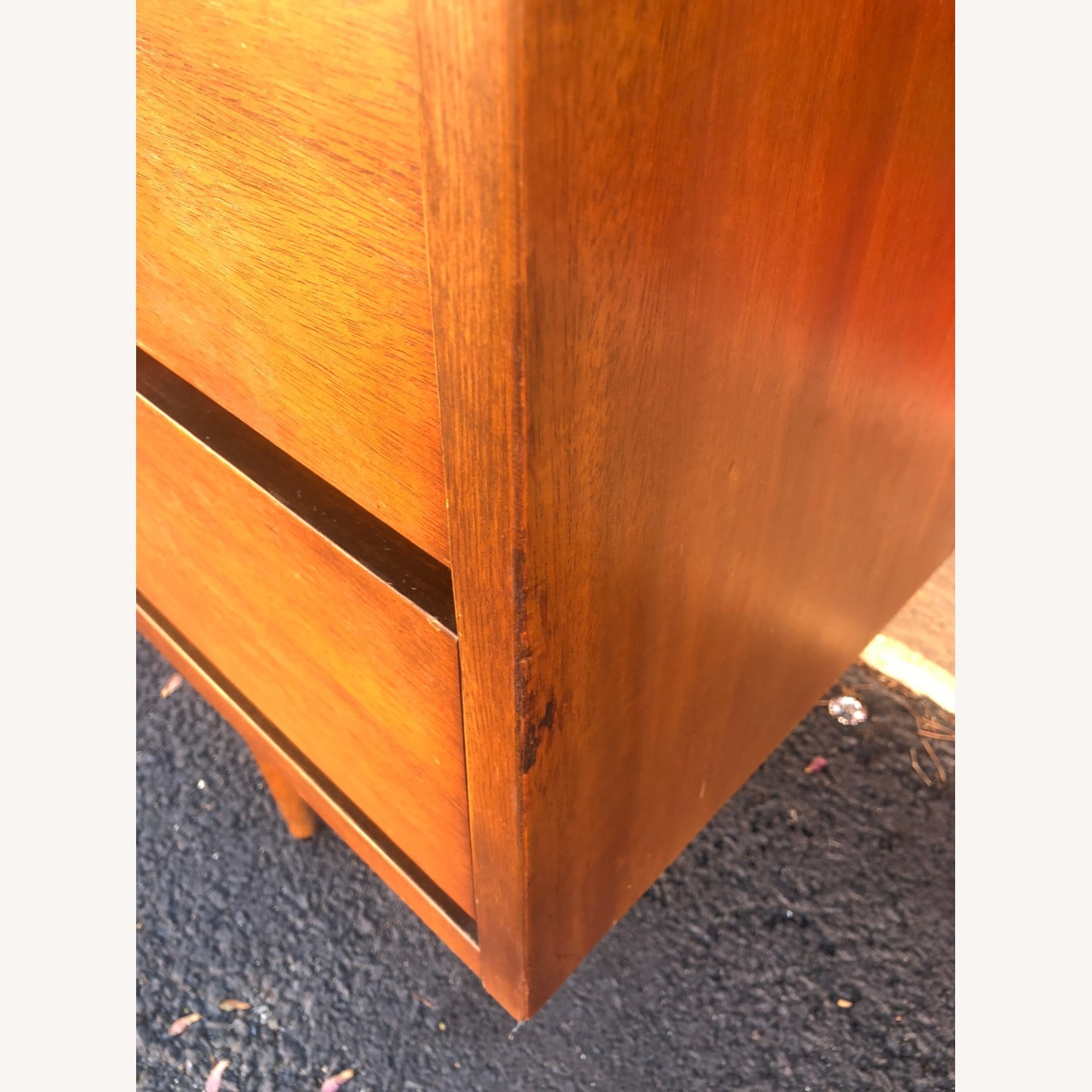Mid Century Four Drawer Writing Desk - image-3