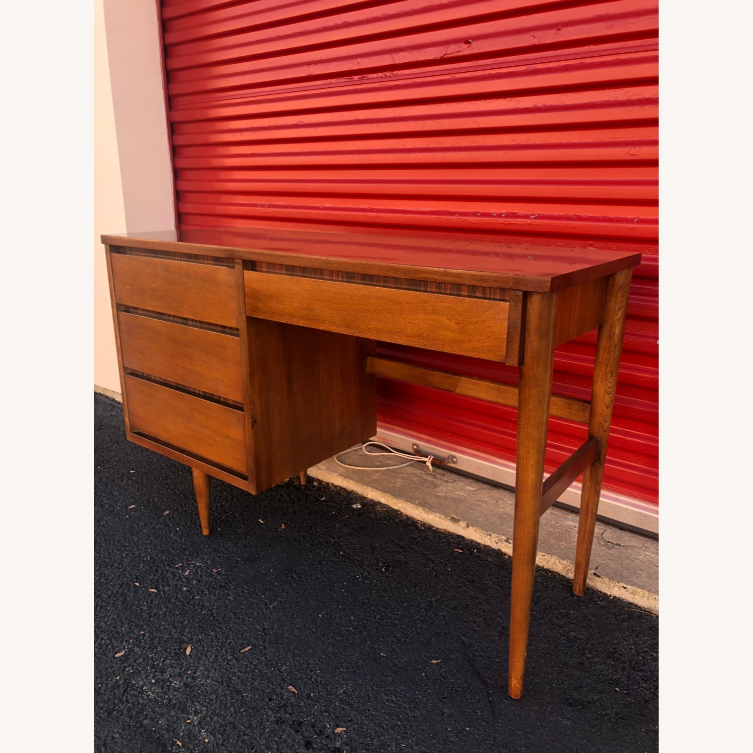 Mid Century Four Drawer Writing Desk - image-2