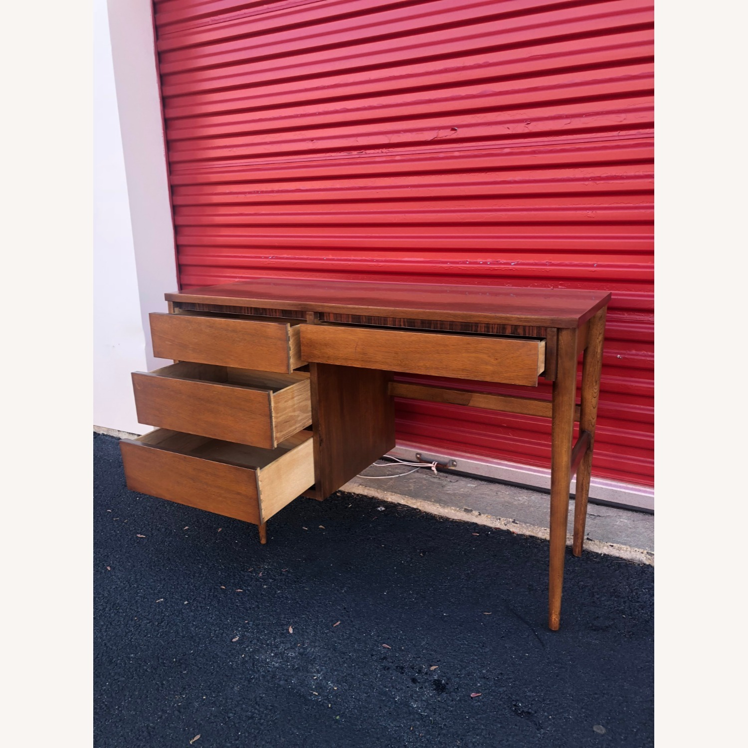 Mid Century Four Drawer Writing Desk - image-6