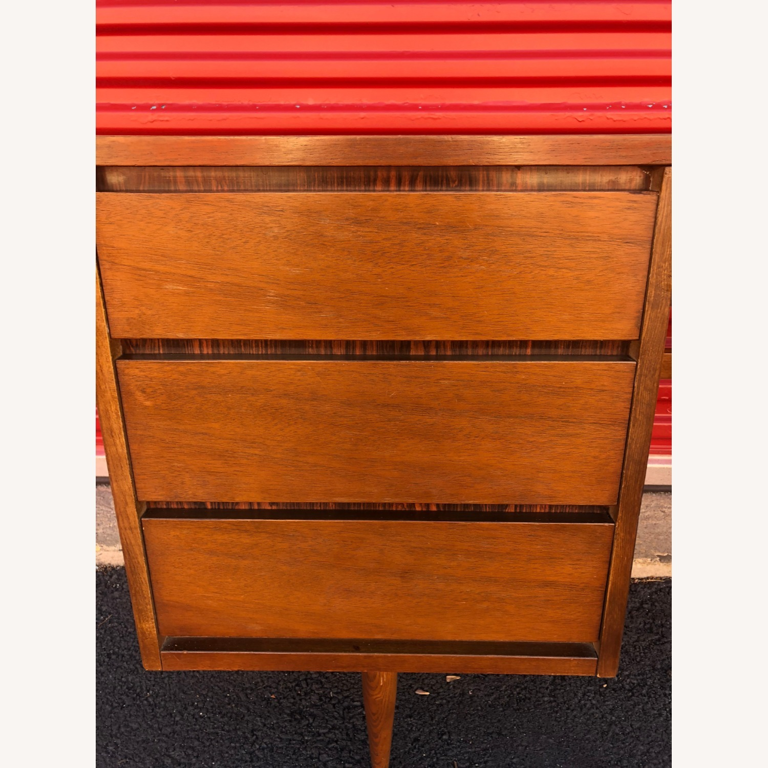 Mid Century Four Drawer Writing Desk - image-12