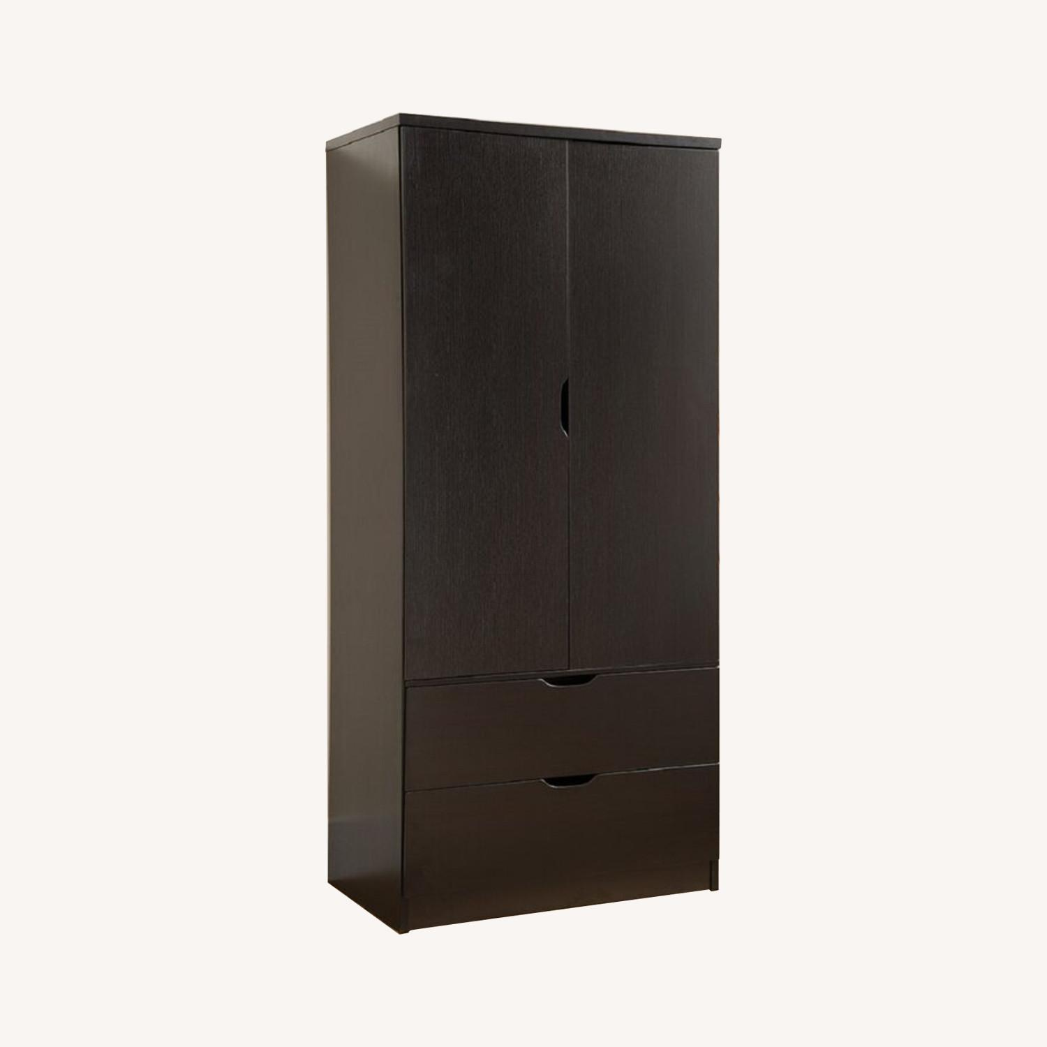 Wayfair Mahogany Laminate Wood Armoire - image-0