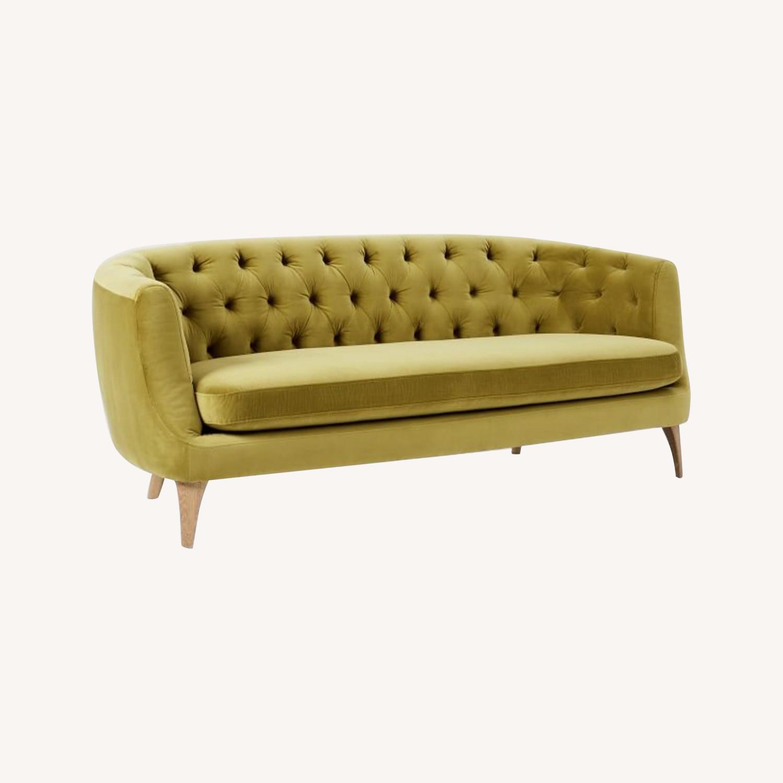 Wst Elm Lola Tufted Sofa, Plush Velvet - image-0