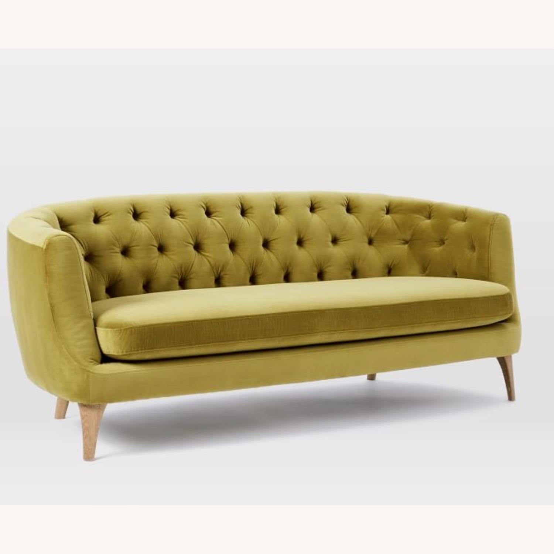 Wst Elm Lola Tufted Sofa, Plush Velvet - image-4