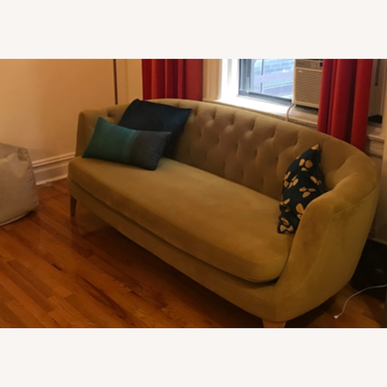Wst Elm Lola Tufted Sofa, Plush Velvet - image-5
