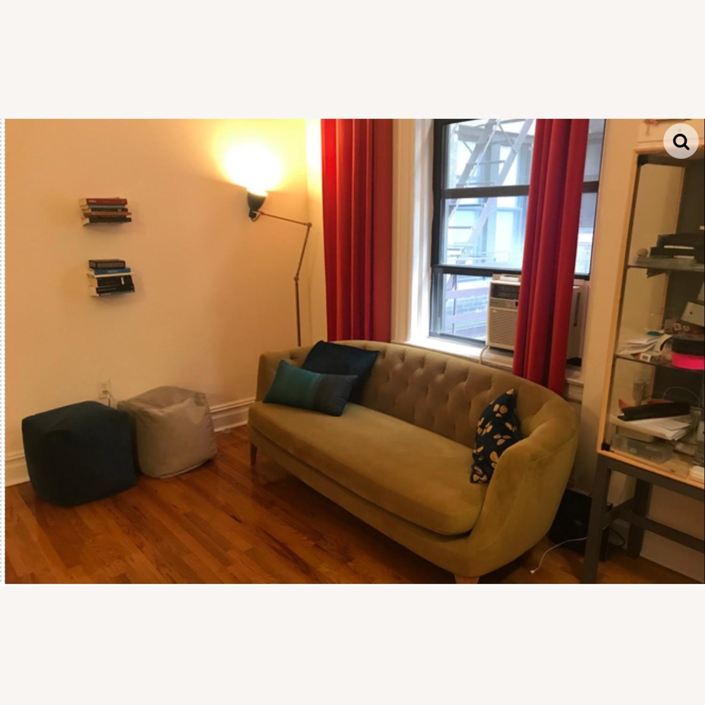 Wst Elm Lola Tufted Sofa, Plush Velvet - image-2