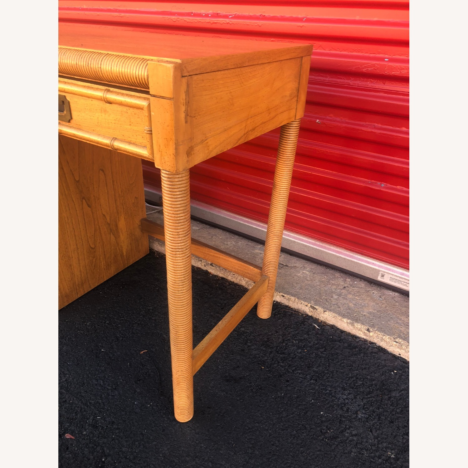 Vintage Campaign Style Writing Desk with 4 Drawers - image-5