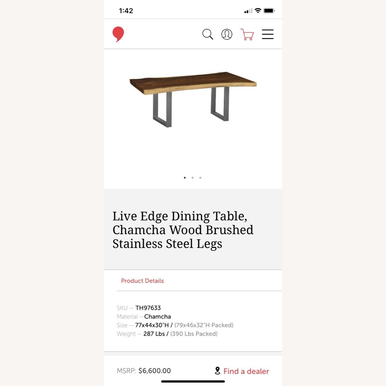 Live Edge Dining Table, Chamcha Wood - image-2