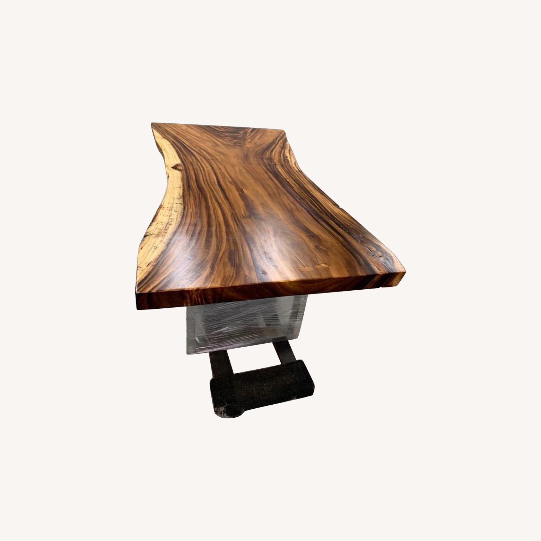 Live Edge Dining Table, Chamcha Wood - image-0