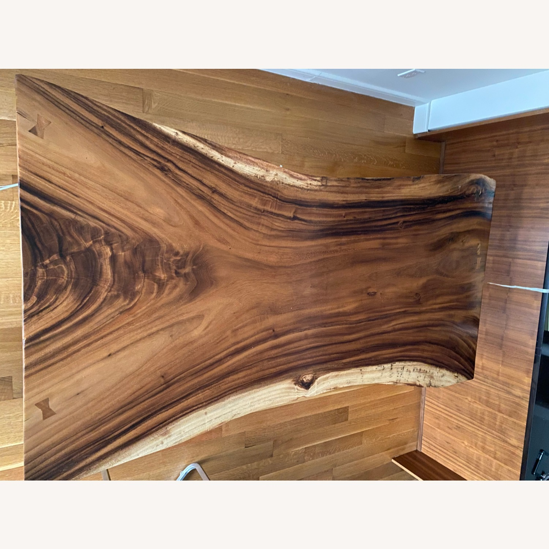 Live Edge Dining Table, Chamcha Wood - image-3