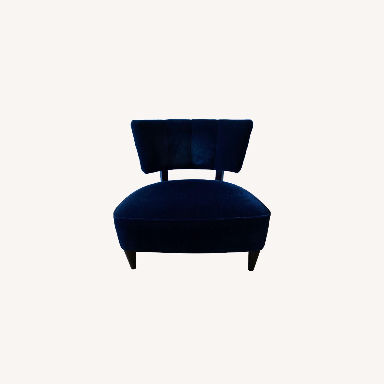 Room & Board Black Mohair Velvet Myrna Chair - image-0