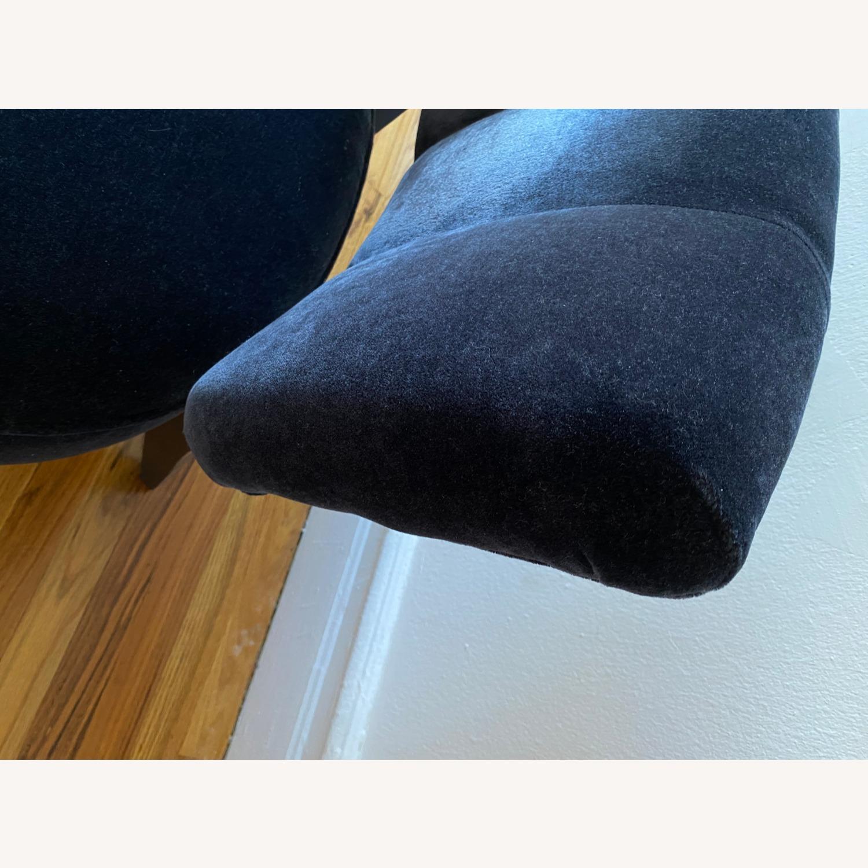 Room & Board Black Mohair Velvet Myrna Chair - image-2