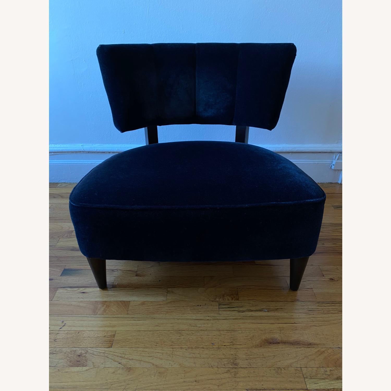 Room & Board Black Mohair Velvet Myrna Chair - image-1