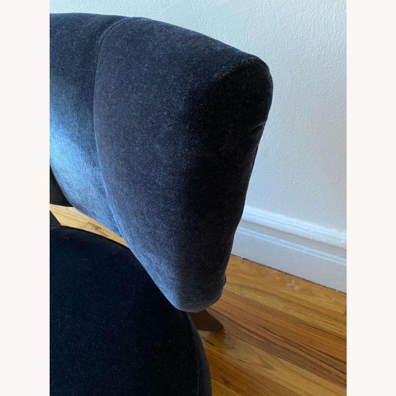 Room & Board Black Mohair Velvet Myrna Chair - image-7