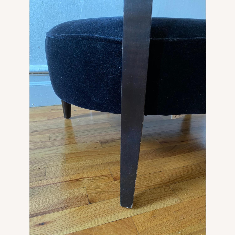 Room & Board Black Mohair Velvet Myrna Chair - image-12