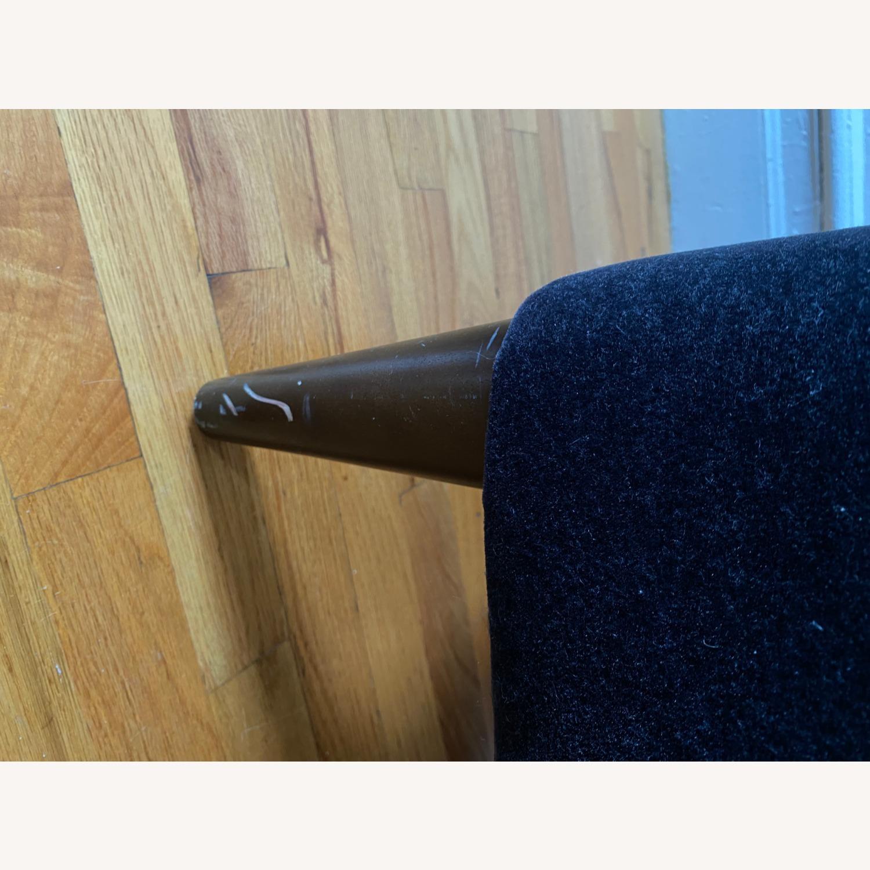 Room & Board Black Mohair Velvet Myrna Chair - image-5