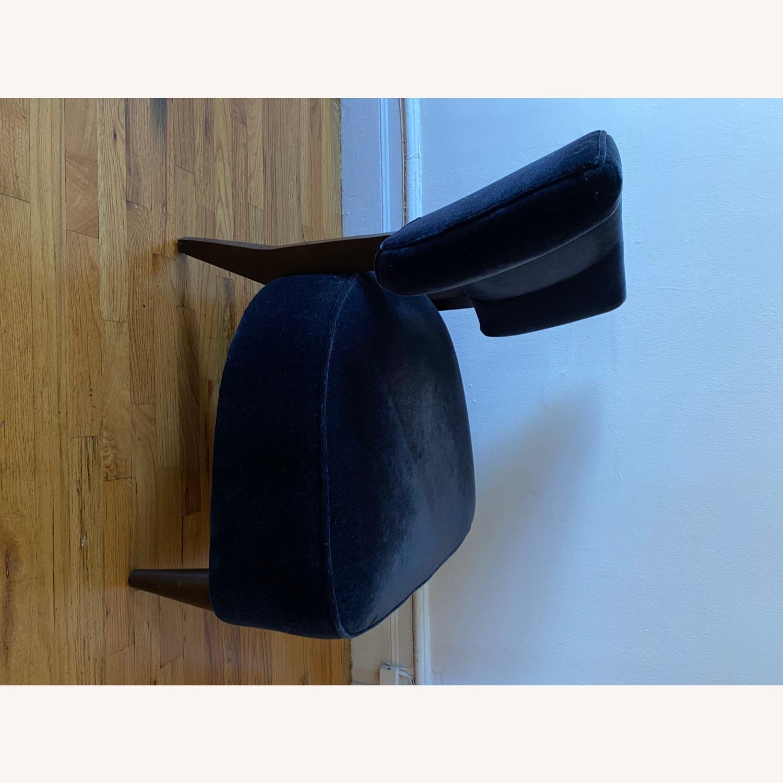 Room & Board Black Mohair Velvet Myrna Chair - image-4