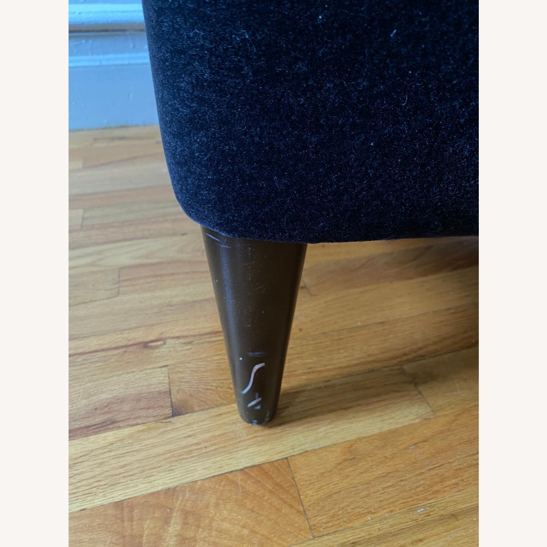 Room & Board Black Mohair Velvet Myrna Chair - image-11