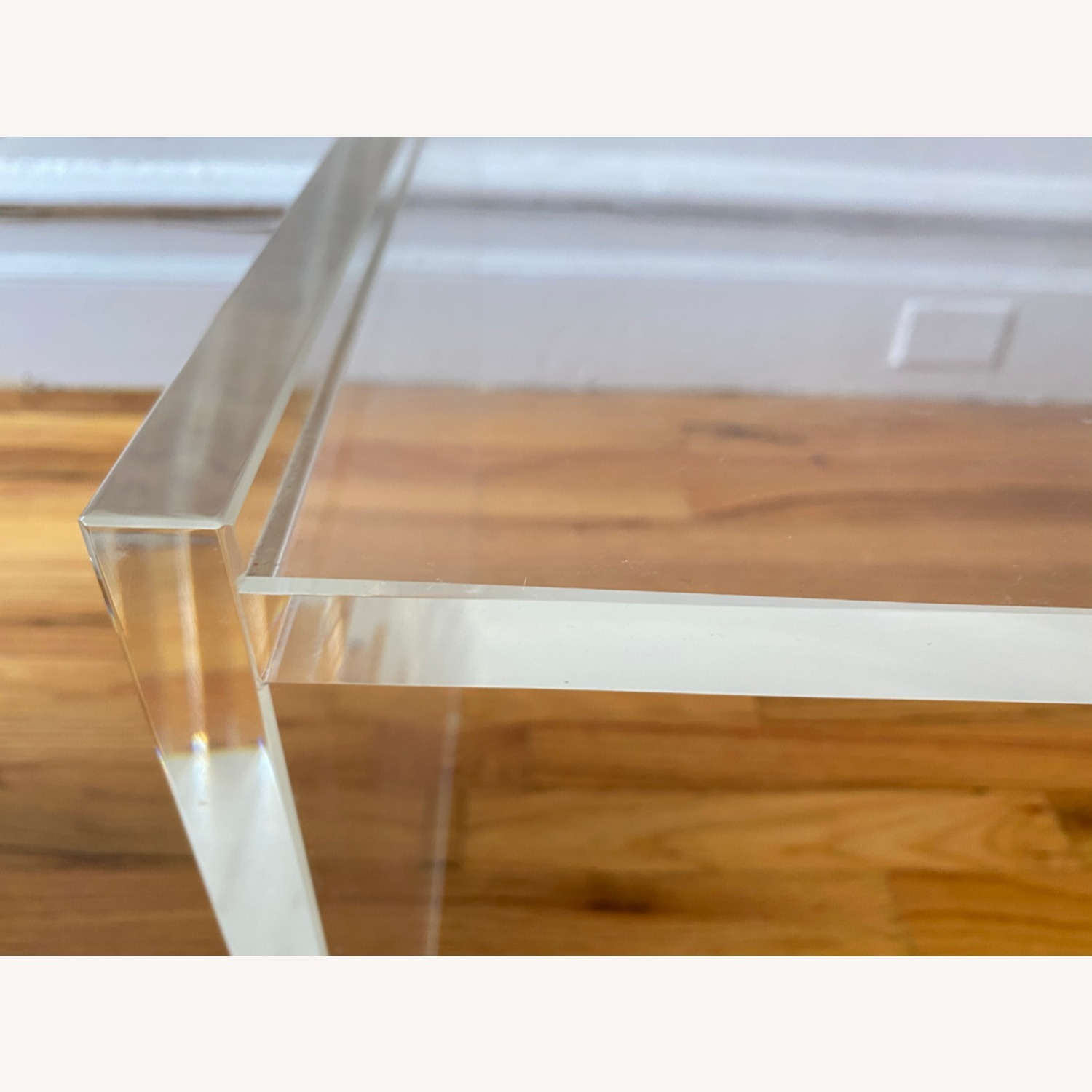 Crate & Barrel Acrylic/Lucite Coffee Table - image-1