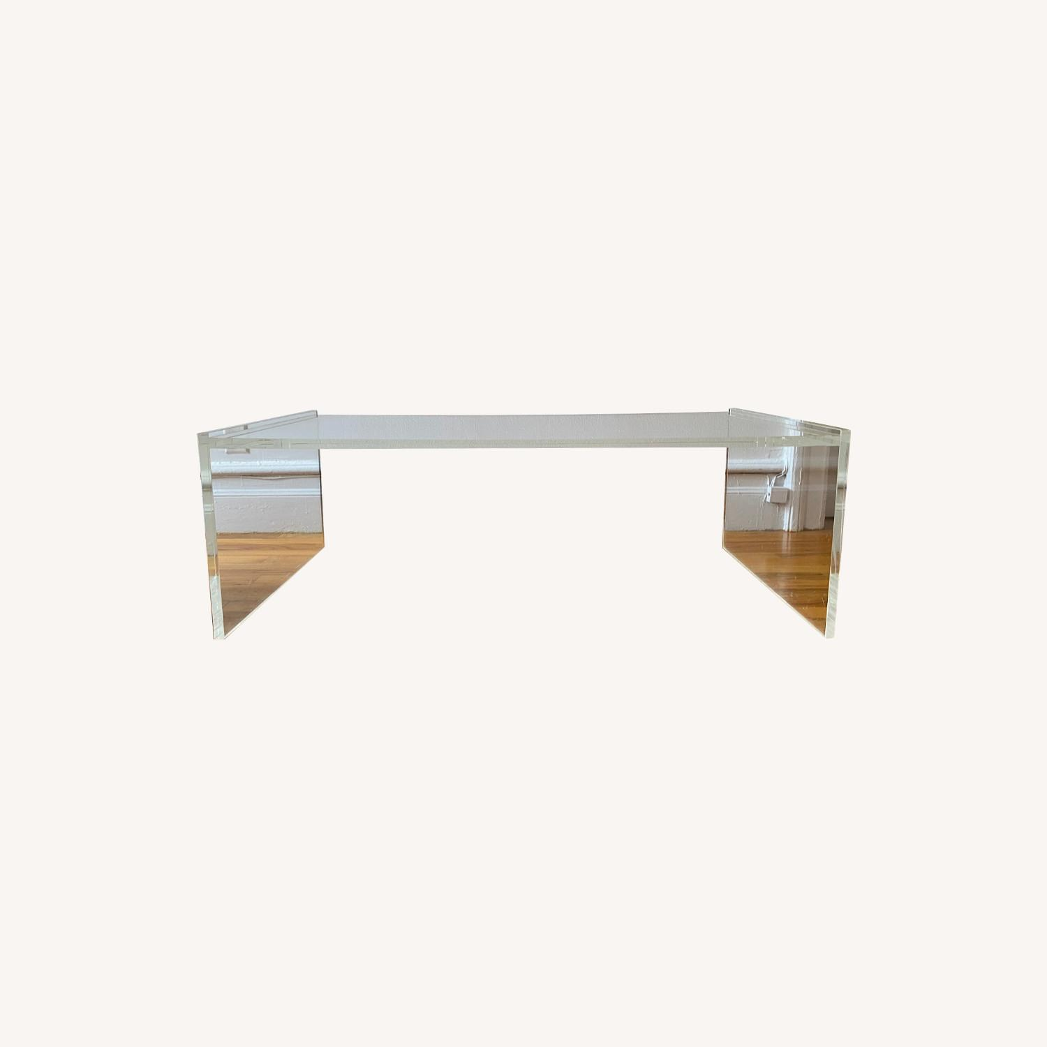 Crate & Barrel Acrylic/Lucite Coffee Table - image-0