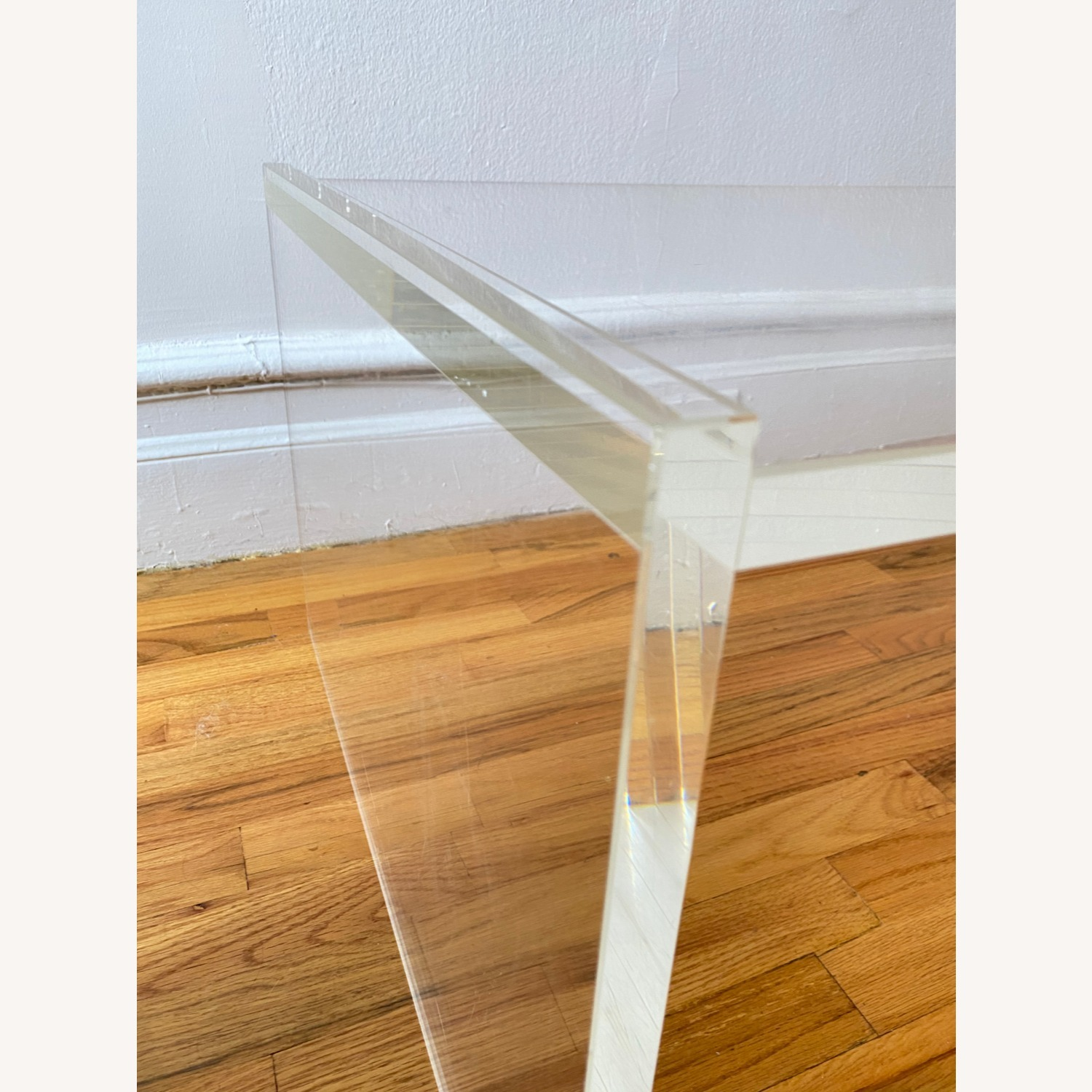 Crate & Barrel Acrylic/Lucite Coffee Table - image-3