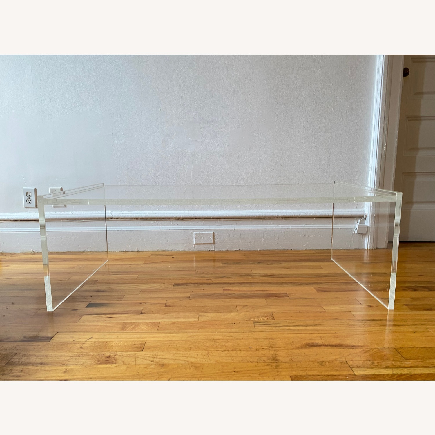 Crate & Barrel Acrylic/Lucite Coffee Table - image-2