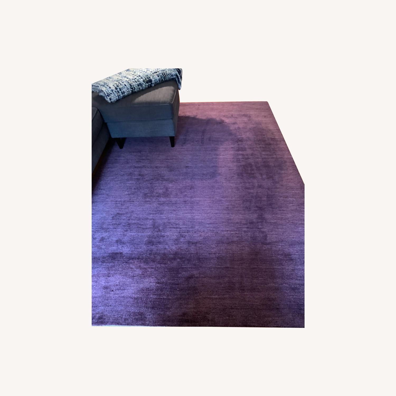 Crate & Barrel Purple Rug - image-0