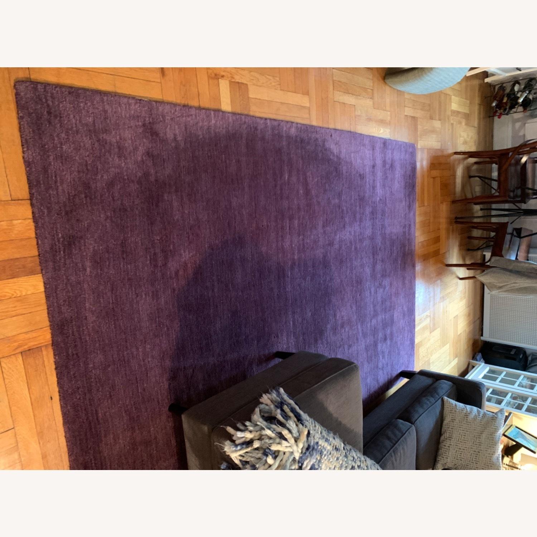 Crate & Barrel Purple Rug - image-2