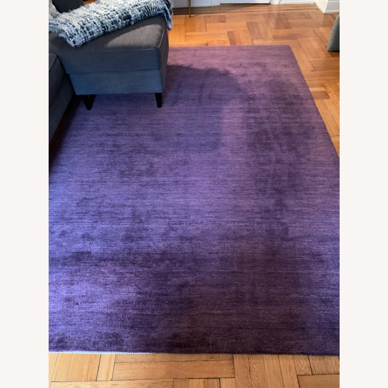 Crate & Barrel Purple Rug - image-1