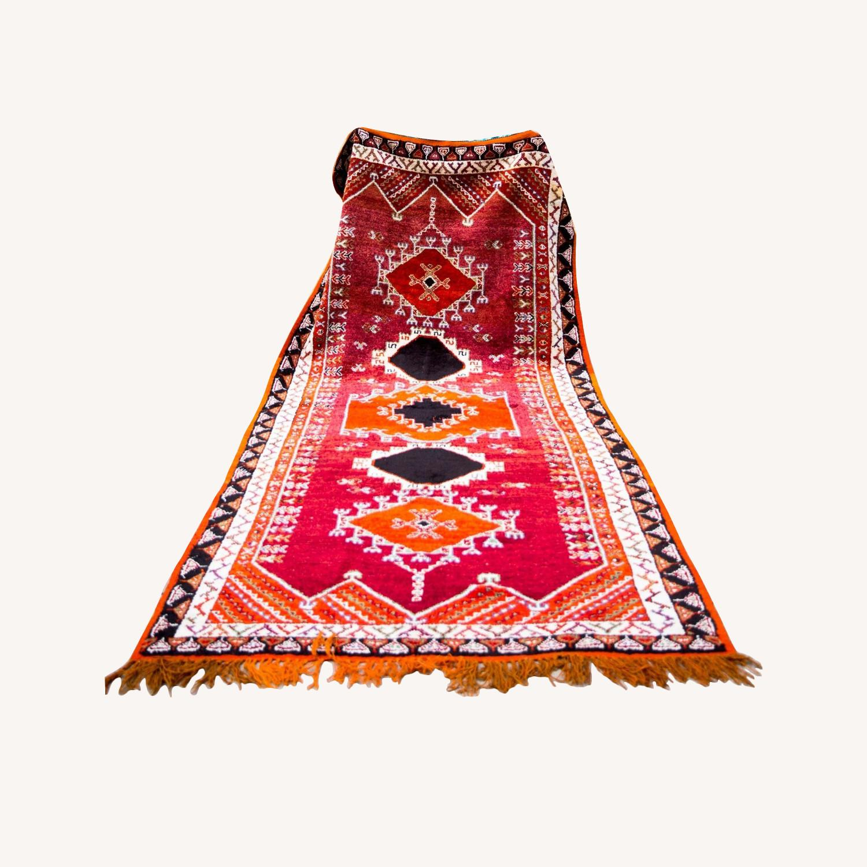 Beautiful Vintage Moroccan Carpet - image-0