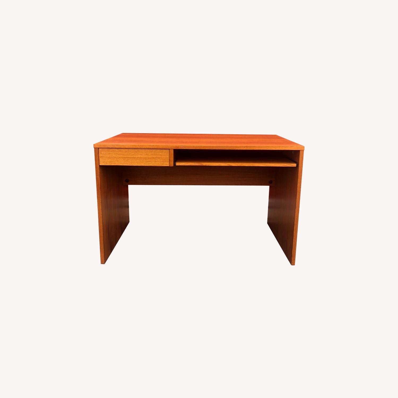 Danish Modern Teak Writing Desk with Drawer - image-0