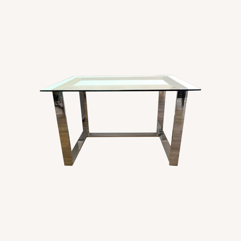 Pottery Barn Glass Desk - image-0
