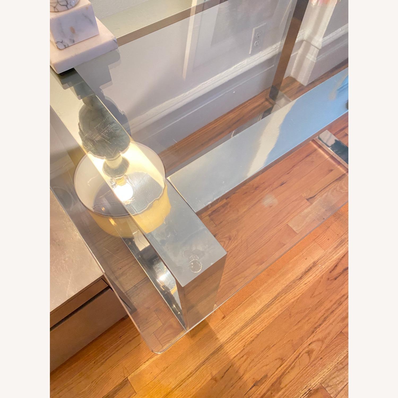 Pottery Barn Glass Desk - image-2