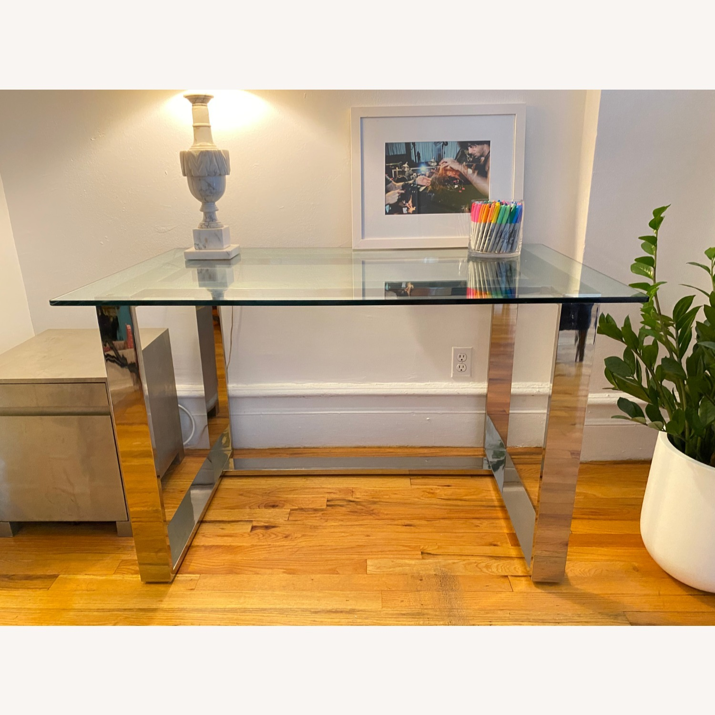Pottery Barn Glass Desk - image-1
